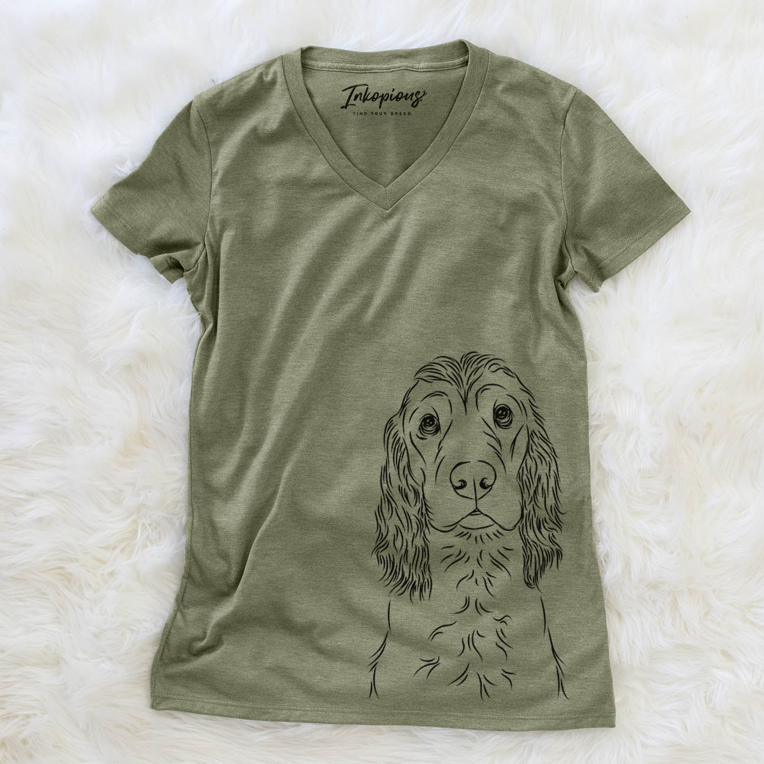 Logan the English Cocker Spaniel - Women's Modern Fit V-neck Shirt