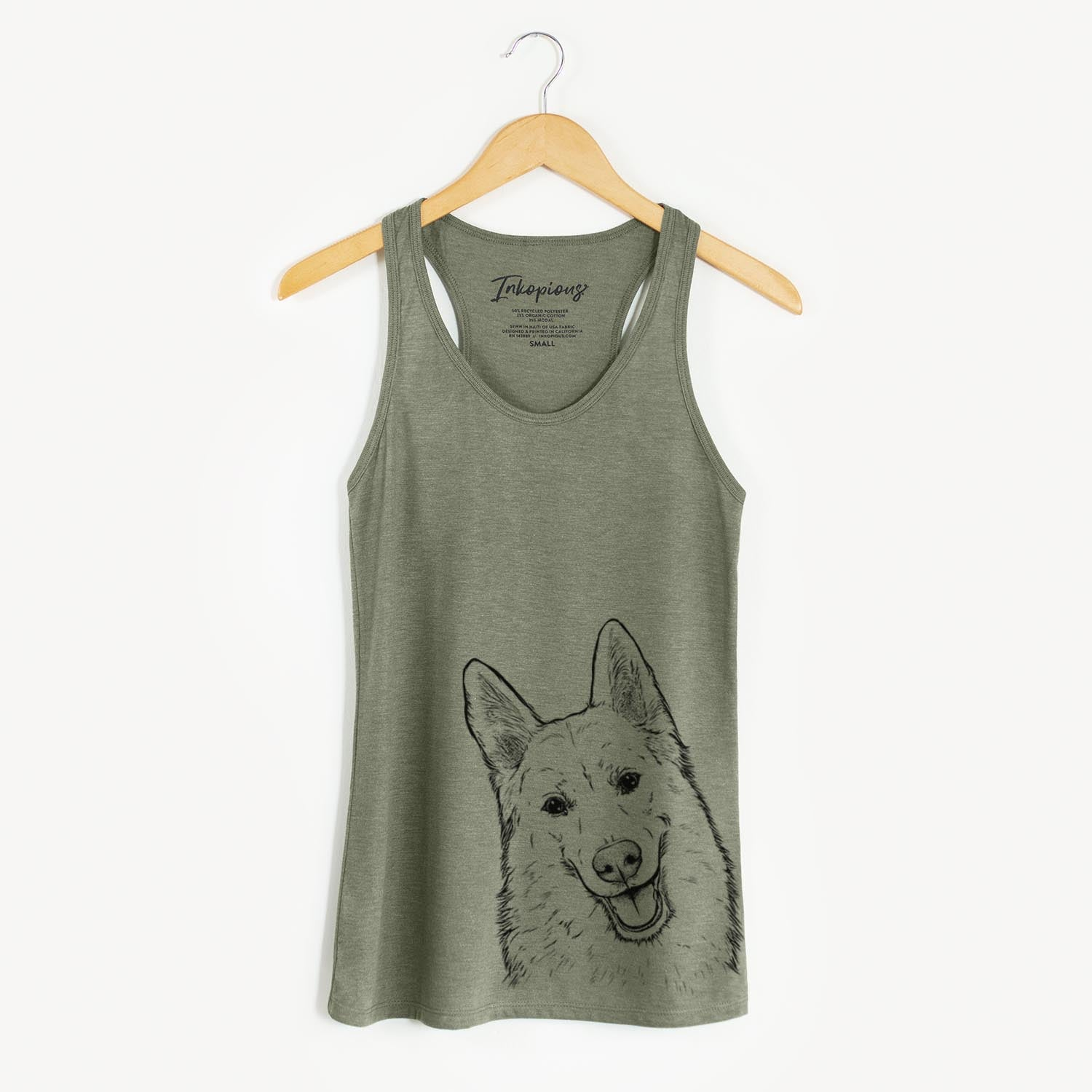 Loki the Husky Shepherd Mix - Racerback Tank Top