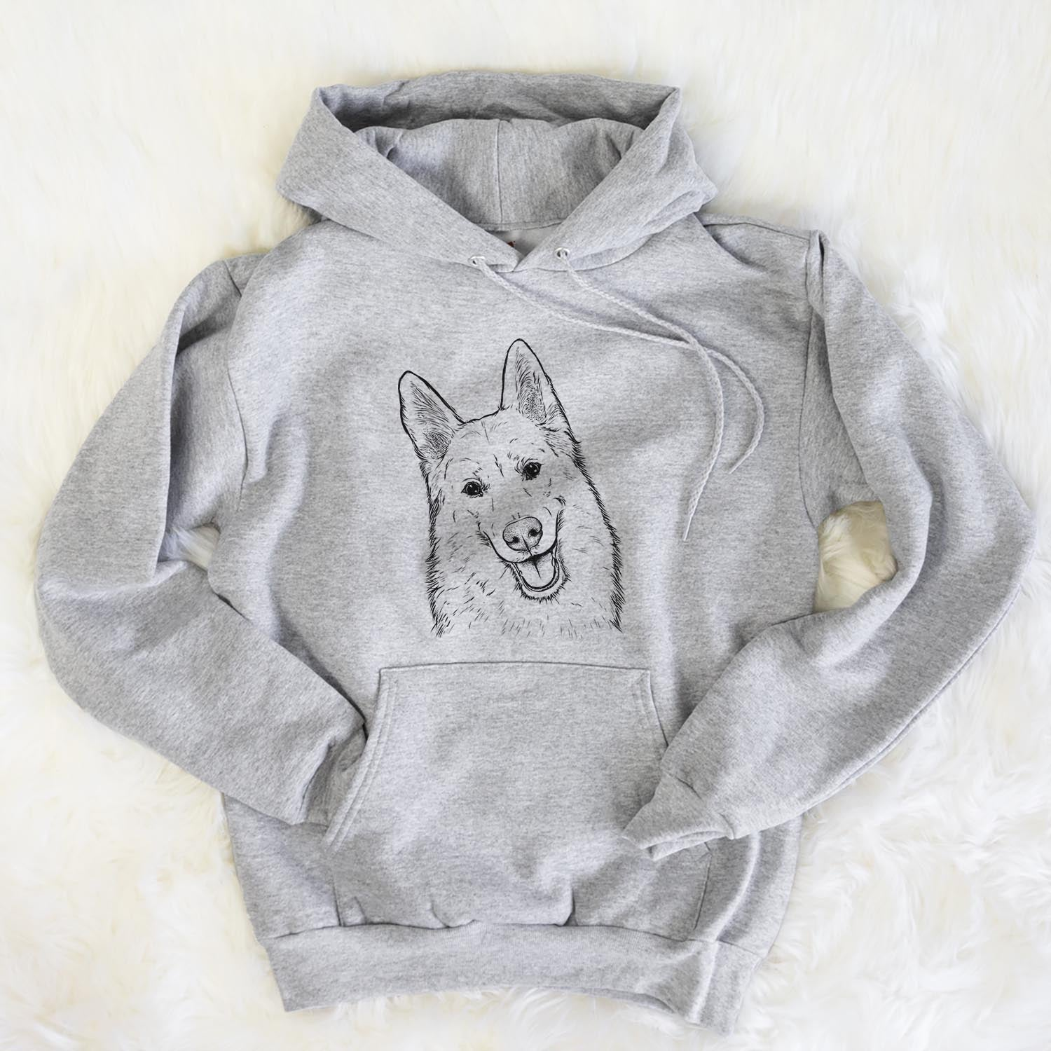 Loki the Husky Shepherd Mix - Unisex Hooded Sweatshirt