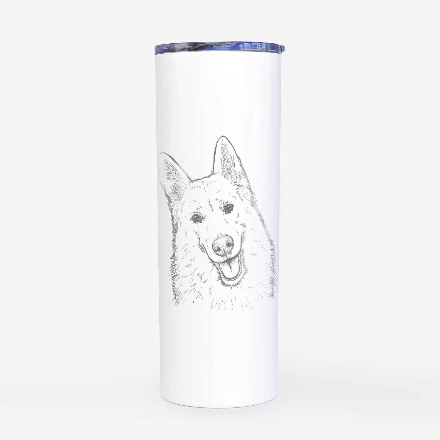 Loki the Husky Shepherd Mix - 20oz Skinny Tumbler