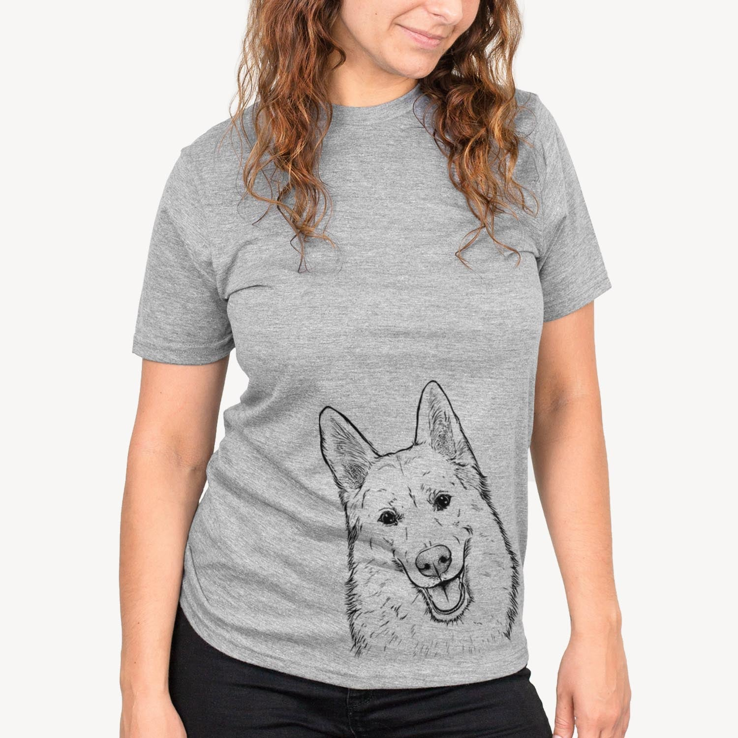 Loki the Husky Shepherd Mix - Unisex Crewneck