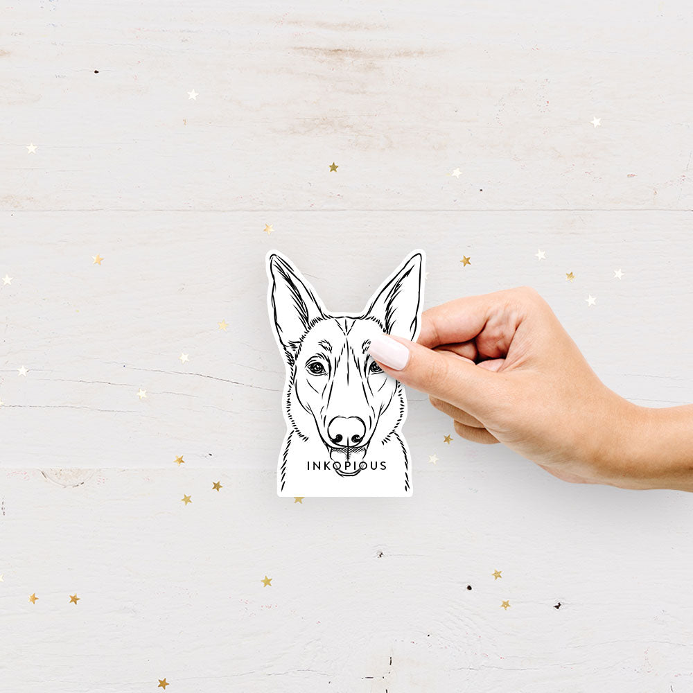 Lyric the Belgian Malinois - Decal Sticker
