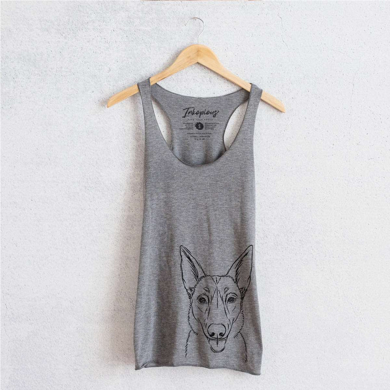 Lyric the Belgian Malinois - Tri-Blend Racerback Tank Top