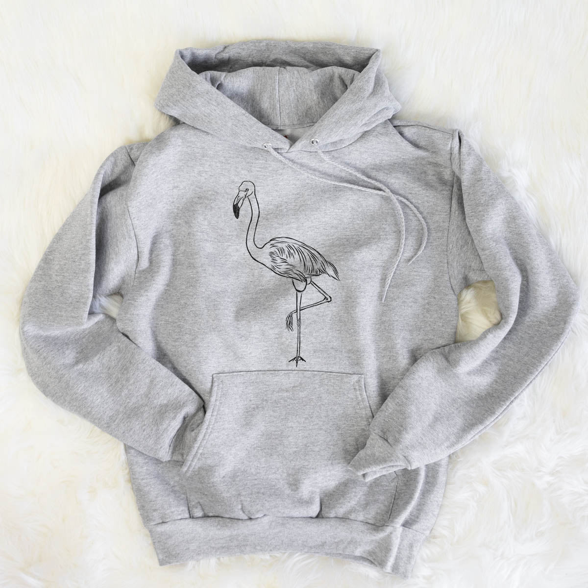 Mango the Flamingo - Mens Hooded Sweatshirt