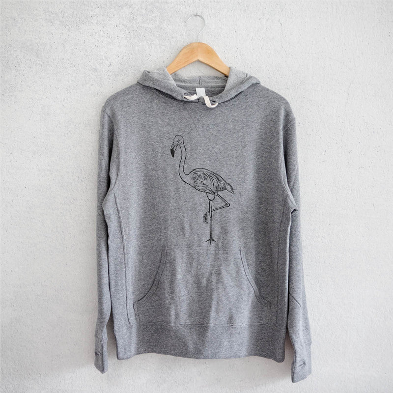 Mango the Flamingo - French Terry Hooded Sweatshirt