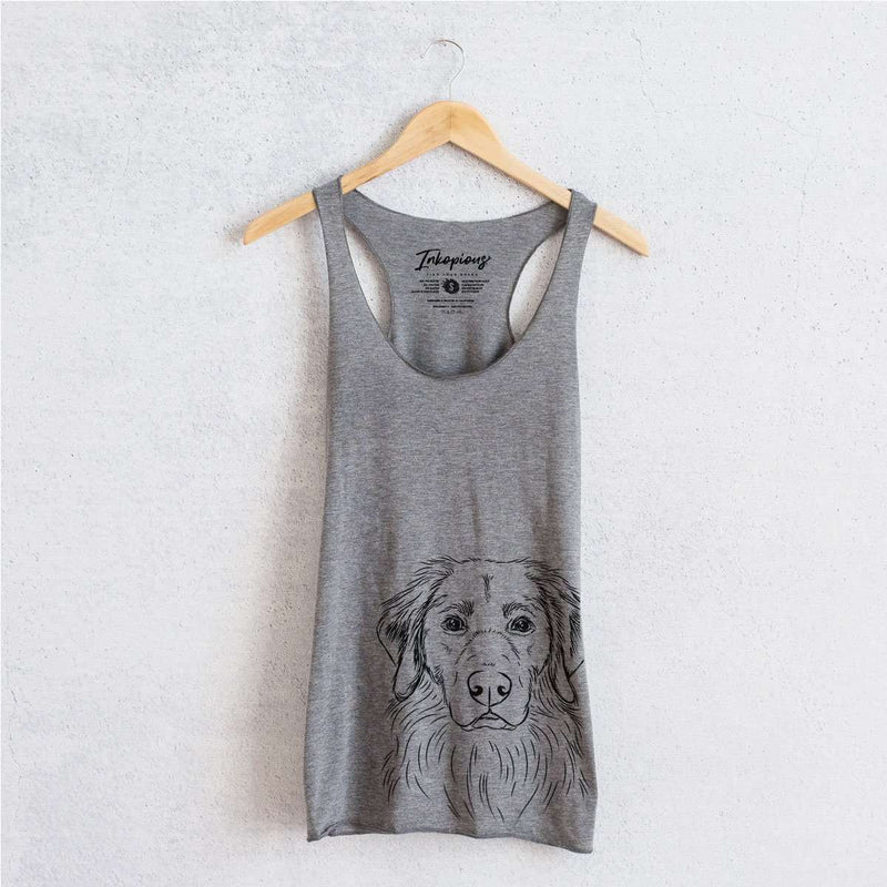 Marley the Golden Retriever - Tri-Blend Racerback Tank Top