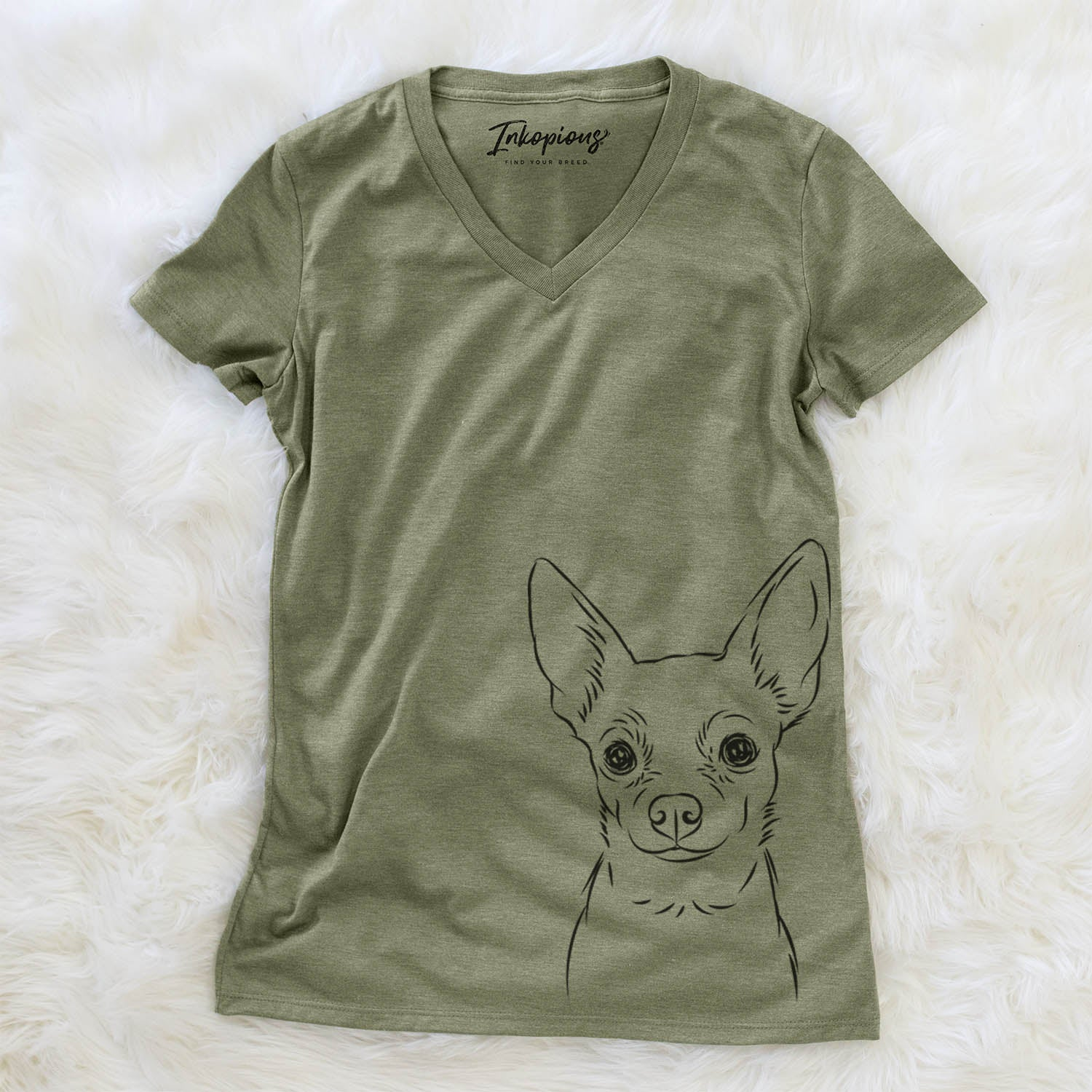 Martini the Chihuahua - Women's Modern Fit V-neck Shirt