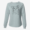Marzi the Long Haired Chihuahua - Cali Wave Crewneck Sweatshirt