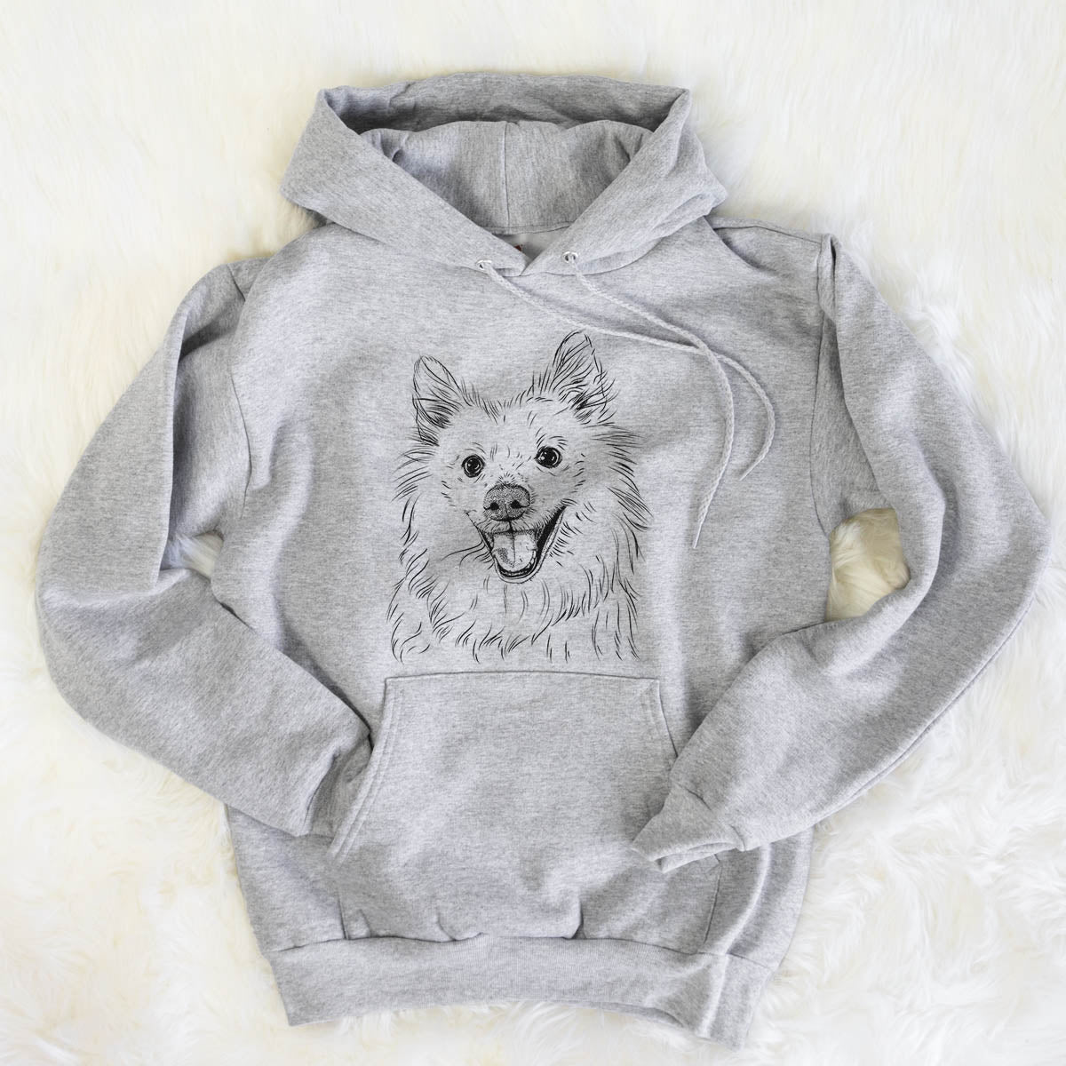 Miki the American Eskimo - Mens Hooded Sweatshirt