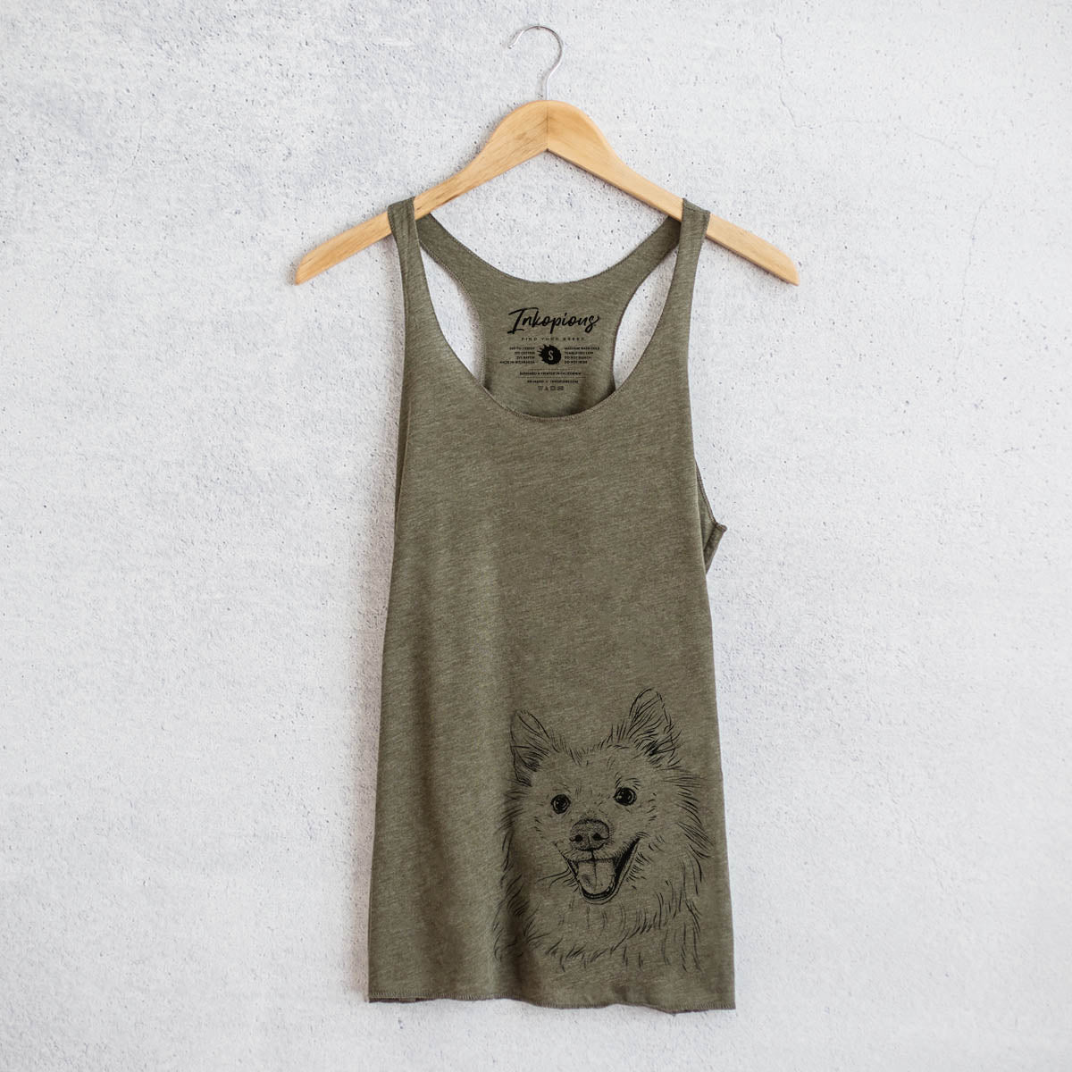 Miki the American Eskimo - Racerback Tank Top