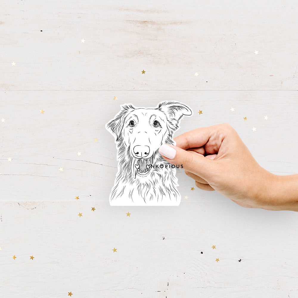 Mila the Mixed Breed - Decal Sticker