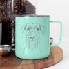 Milton the Standard Schnauzer - 14oz Metal Mug
