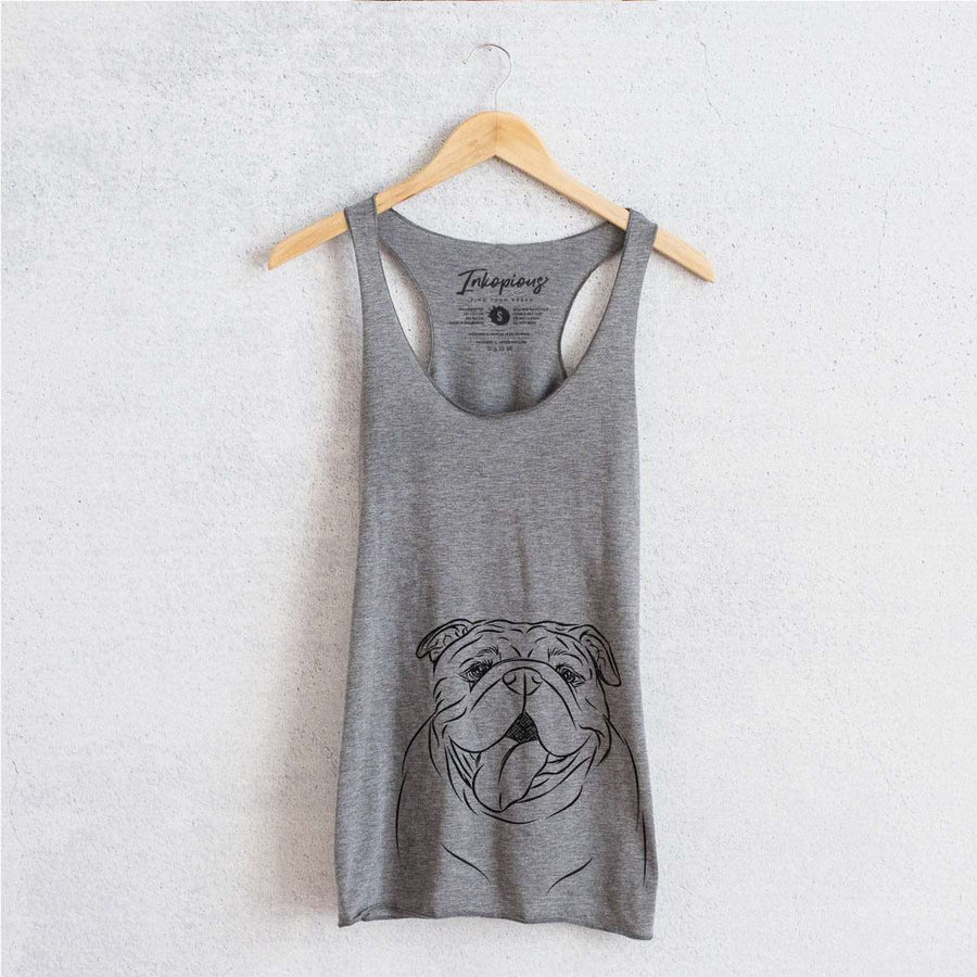MissyMoo the English Bulldog - Tri-Blend Racerback Tank Top
