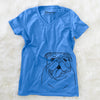 MissyMoo the English Bulldog - Women's Modern Fit V-neck Shirt