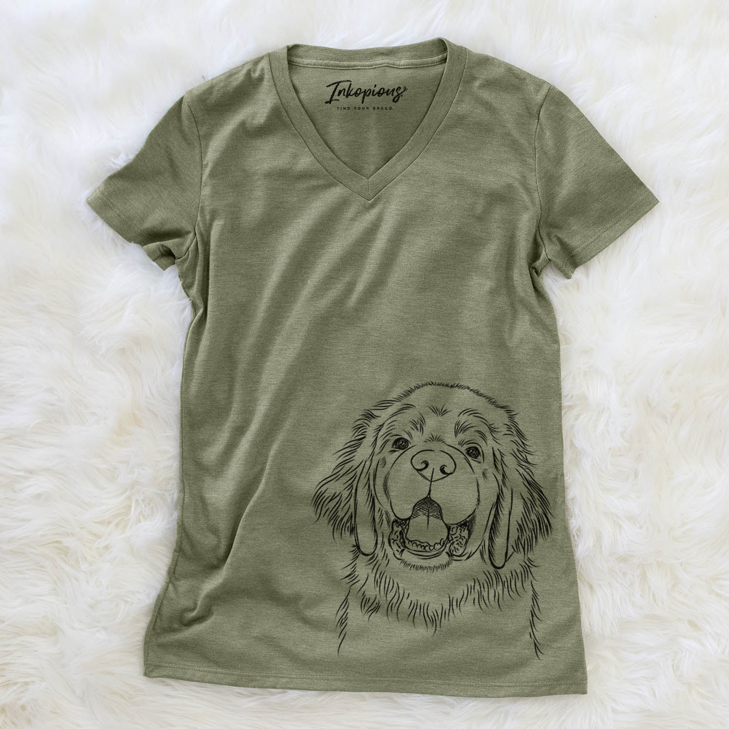 Mozart the Newfoundland - Women's Modern Fit V-neck Shirt