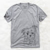 Mr. Gucci Poochie the Maltese - Unisex V-Neck Shirt