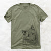 MrMaverick the Keeshond - Unisex V-Neck Shirt