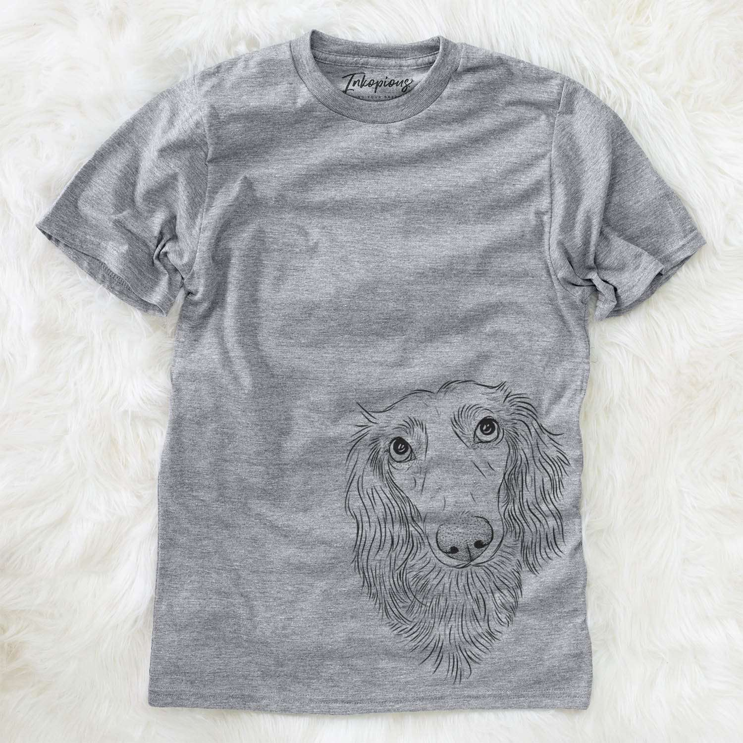 Mr. Rusty the Long Haired Dachshund - Unisex Crewneck