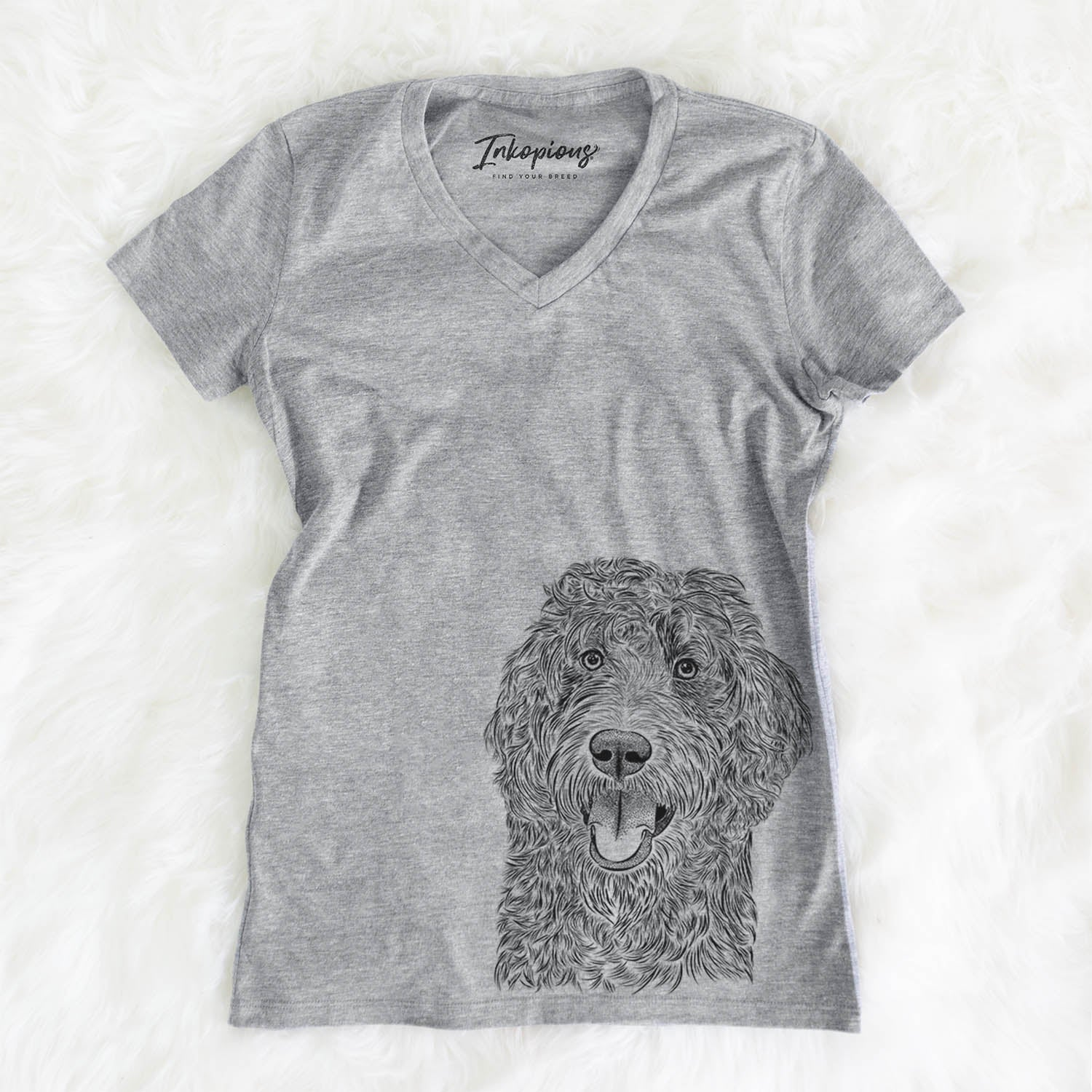 Murr Dog the Labradoodle - Women's Modern Fit V-neck Shirt