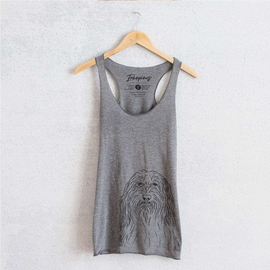 Murray the Bearded Collie - Tri-Blend Racerback Tank Top