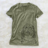 Murray the Bearded Collie - Women's Modern Fit V-neck Shirt
