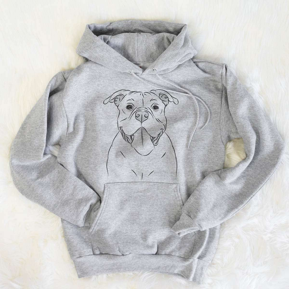 Nacho the American Bully - Mens Hooded Sweatshirt
