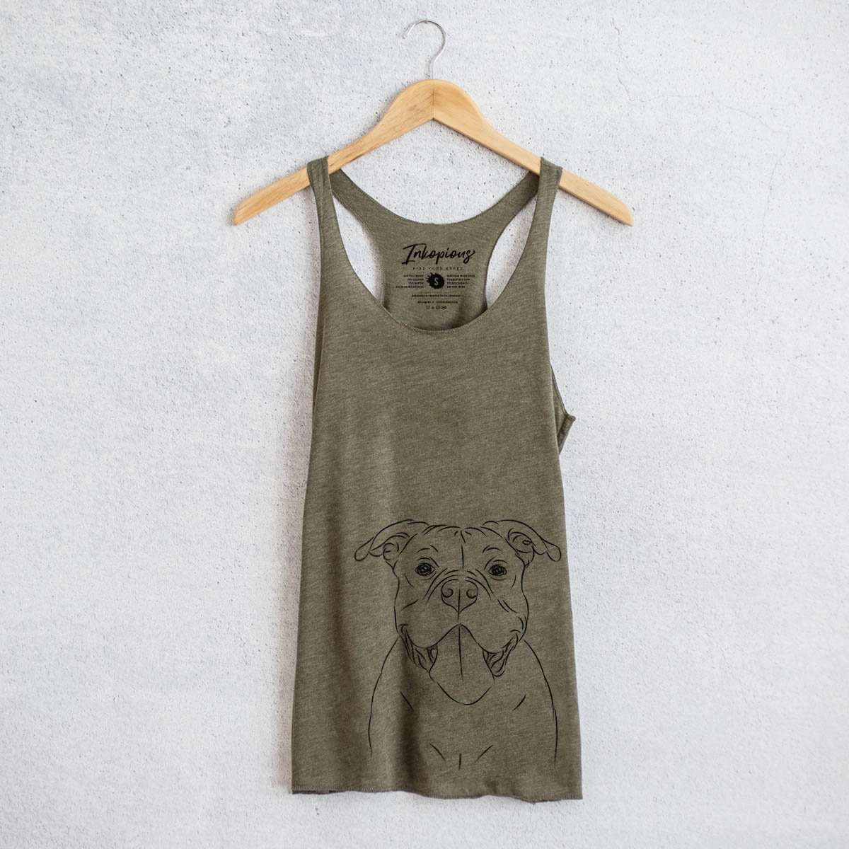 Nacho the American Bully - Tri-Blend Racerback Tank Top
