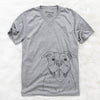 Nacho the American Bully - Unisex V-Neck Shirt