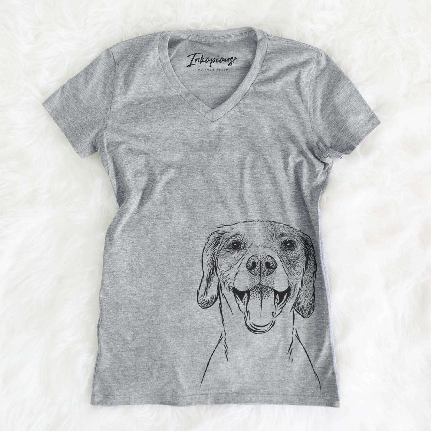 Obi the Beagle Mix - Women's Modern Fit V-neck Shirt