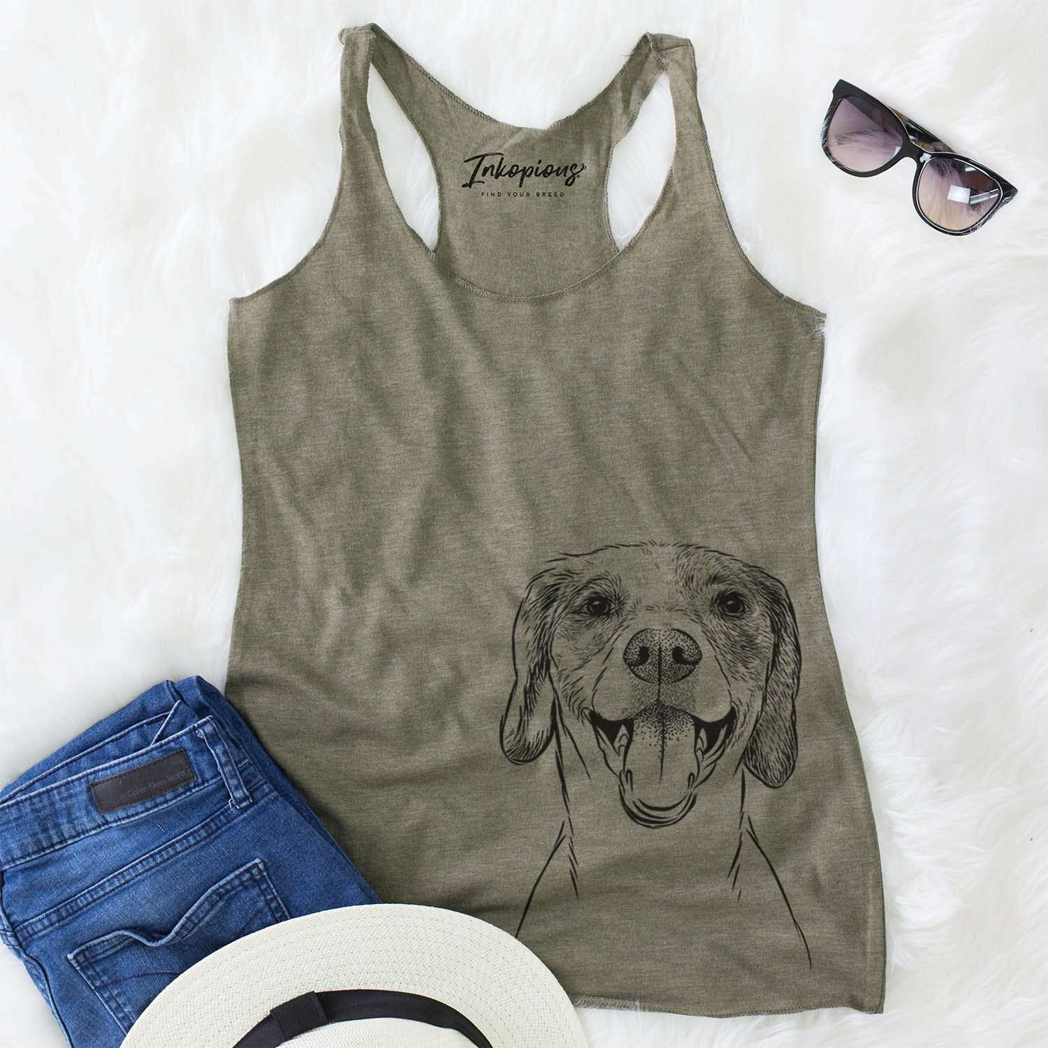 Obi the Beagle Mix - Racerback Tank Top