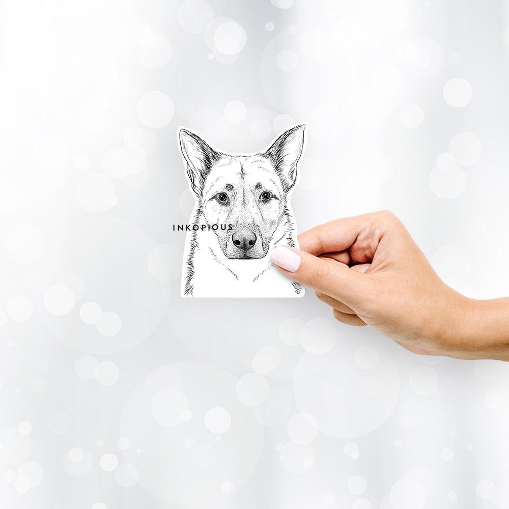 Oliverno the German Shepherd - Decal Sticker