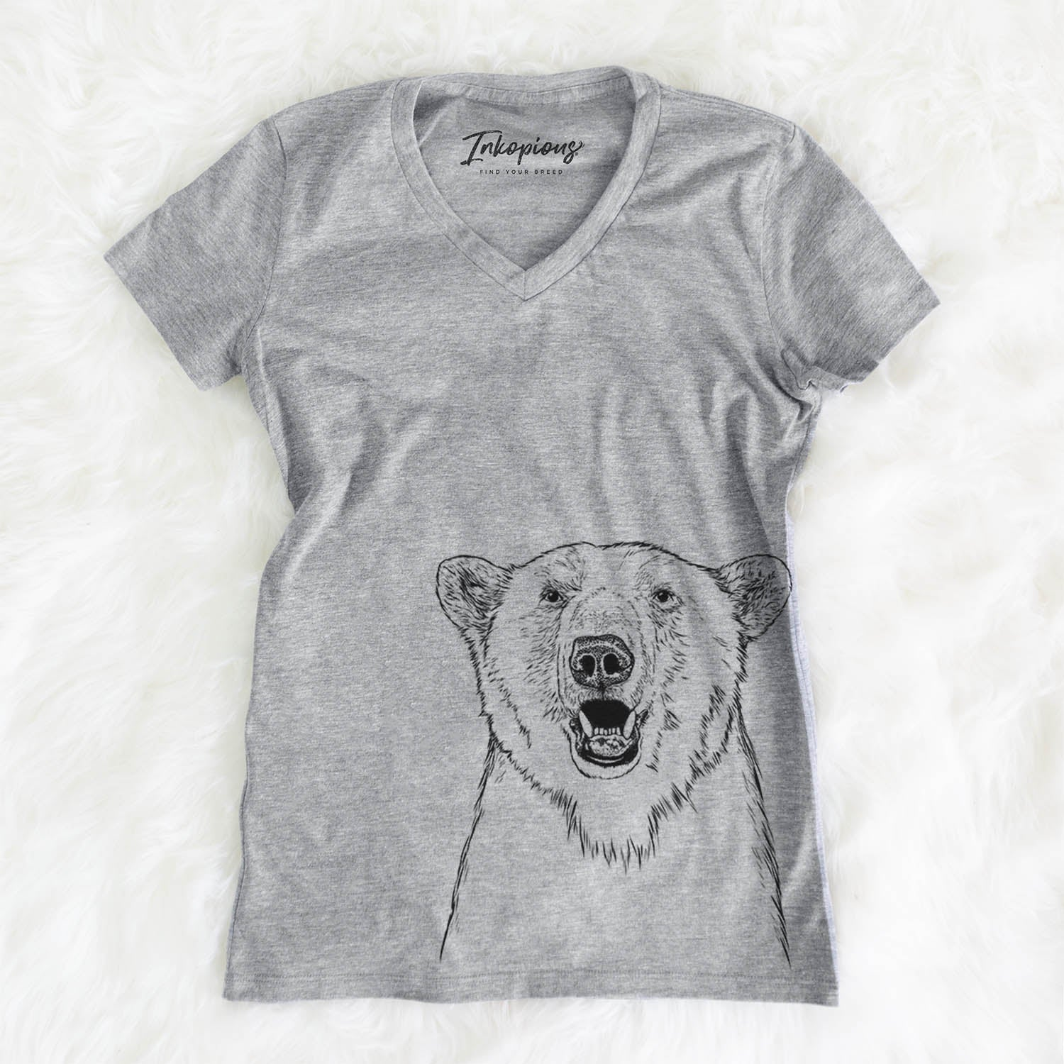 Oslo the Polar Bear - Women's Modern Fit V-neck Shirt