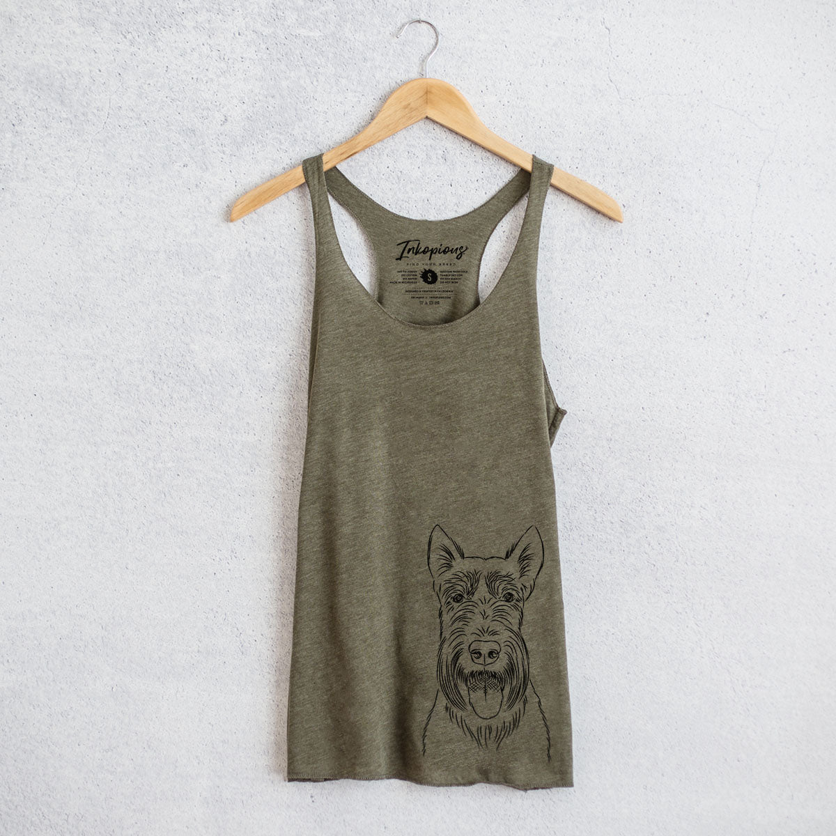 Oswald the Scottish Terrier - Racerback Tank Top
