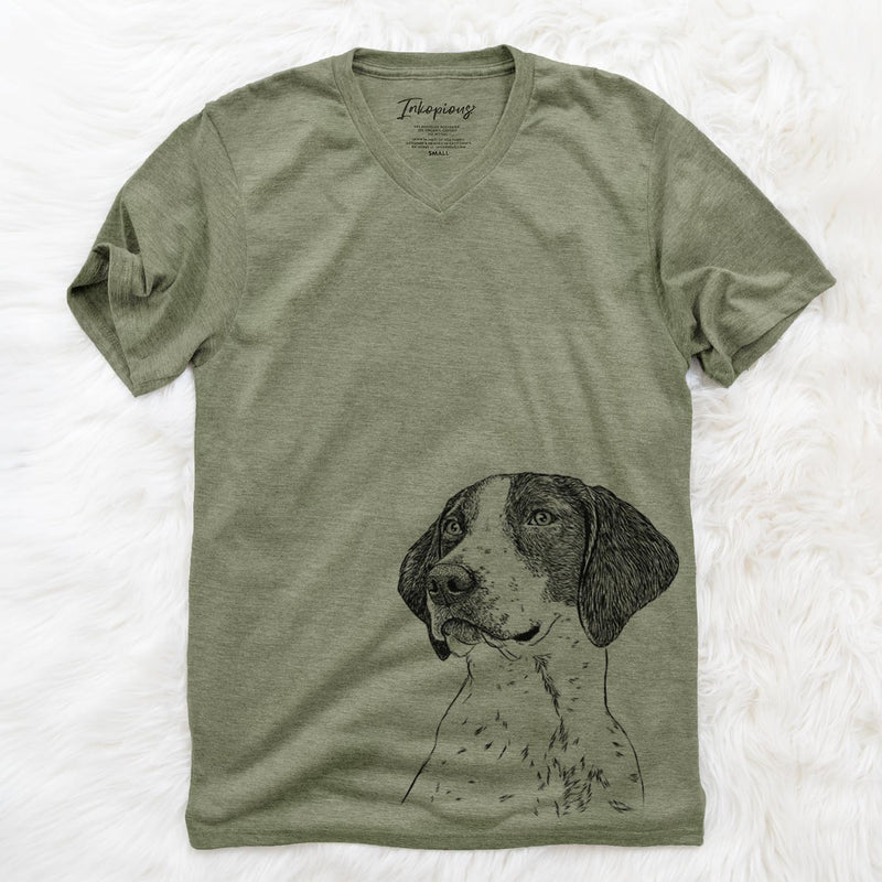 Payton the Mixed Breed - Unisex V-Neck Shirt