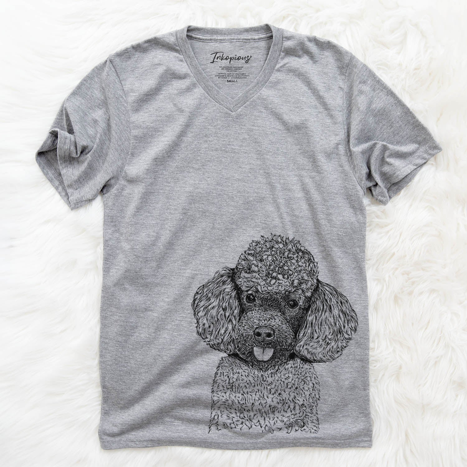 George the Toy Poodle - Unisex V-Neck Shirt