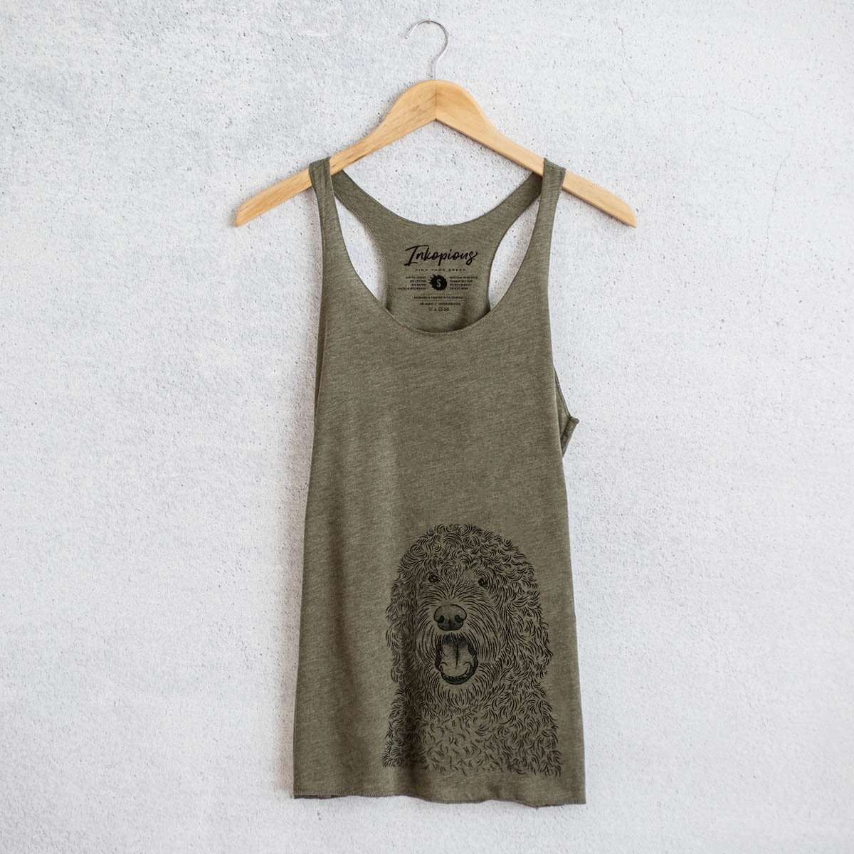 Phillip the Portuguese Water Dog - Tri-Blend Racerback Tank Top