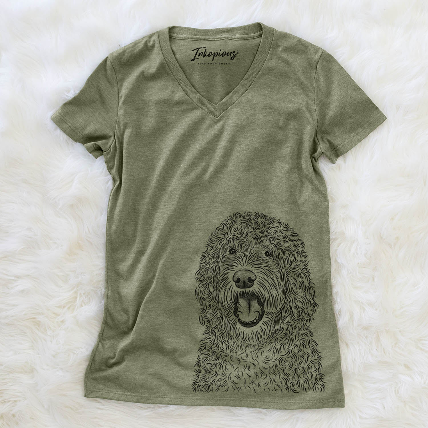 Phillip the Portuguese Water Dog - Women's Modern Fit V-neck Shirt