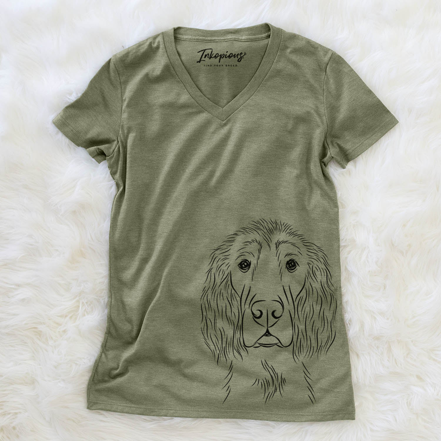 Piper the Irish Setter - Women's Modern Fit V-neck Shirt