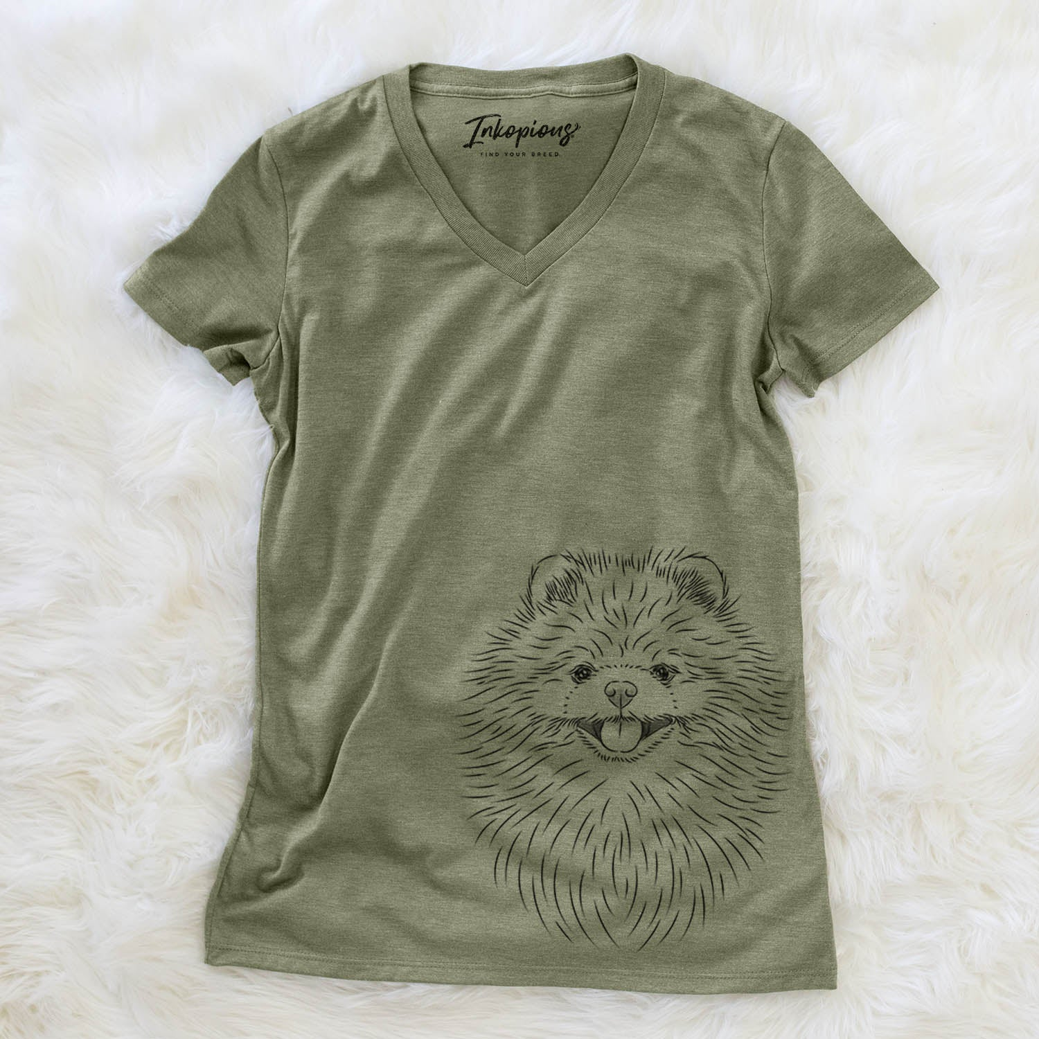 Pirro the Pomeranian - Women's Modern Fit V-neck Shirt