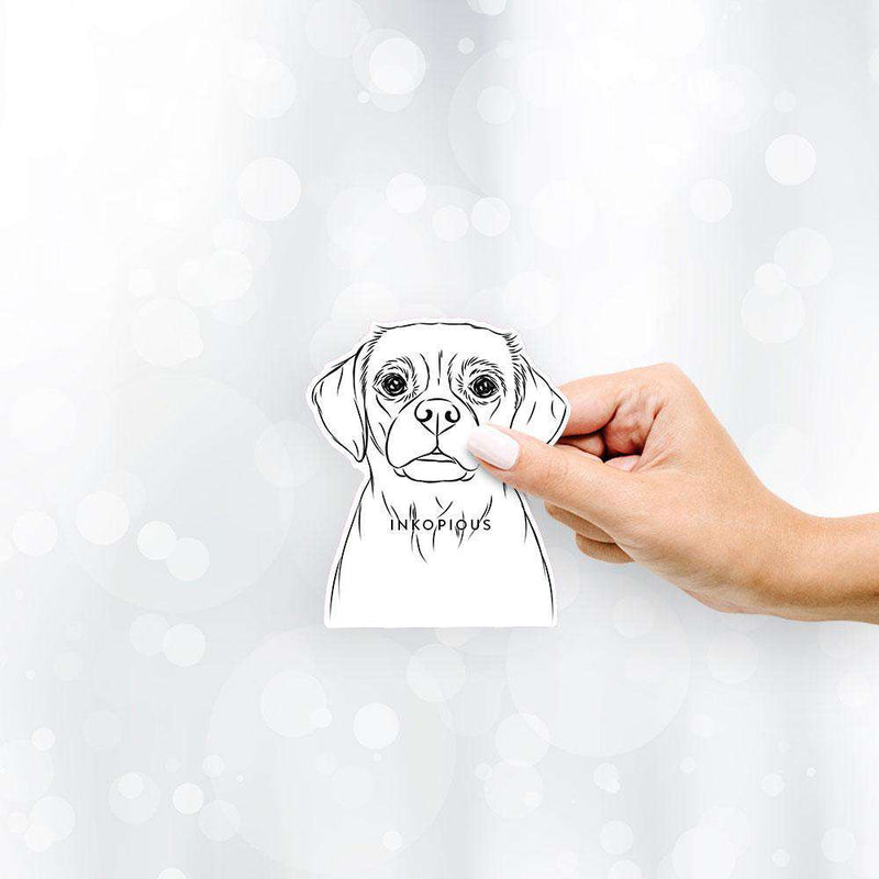 Popcorn the Puggle - Decal Sticker