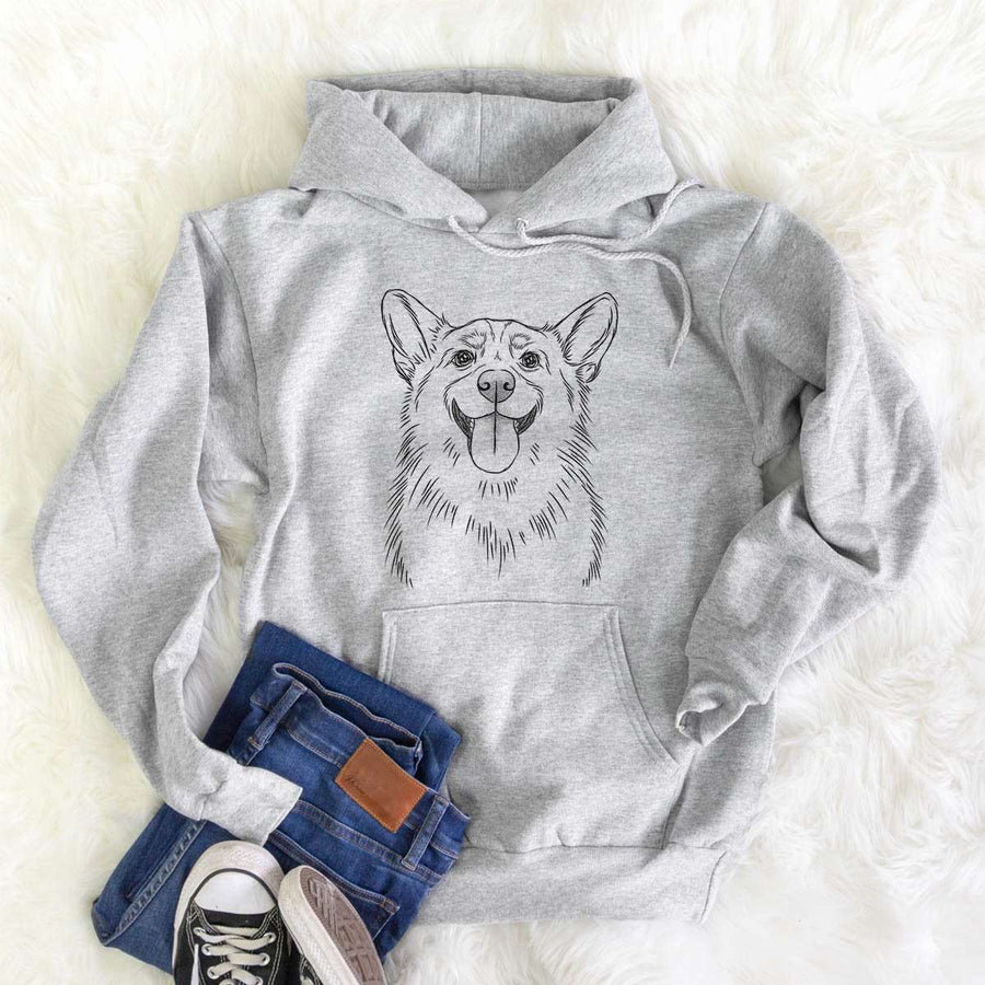 Porter the Pembroke Welsh Corgi - Mens Hooded Sweatshirt