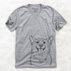 Porter the Pembroke Welsh Corgi - Unisex V-Neck Shirt