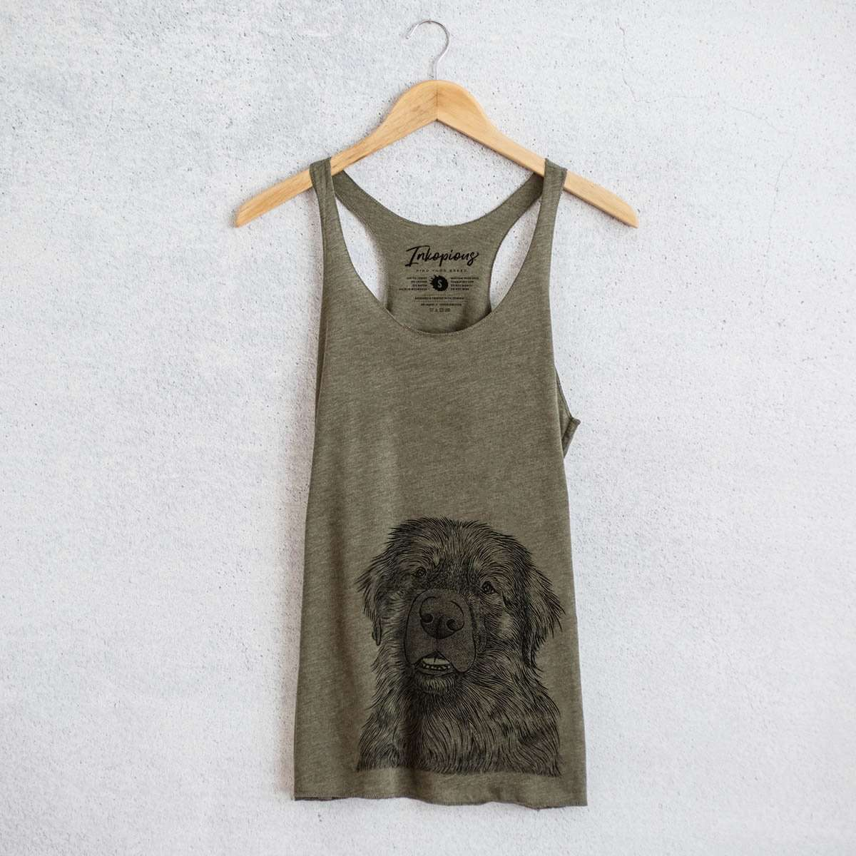 Ralph the Leonberger - Tri-Blend Racerback Tank Top