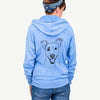 Ralphie the Mixed Breed - Unisex Raglan Zip Up Hoodie