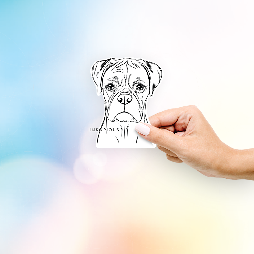 Reese the Boxer - Decal Sticker