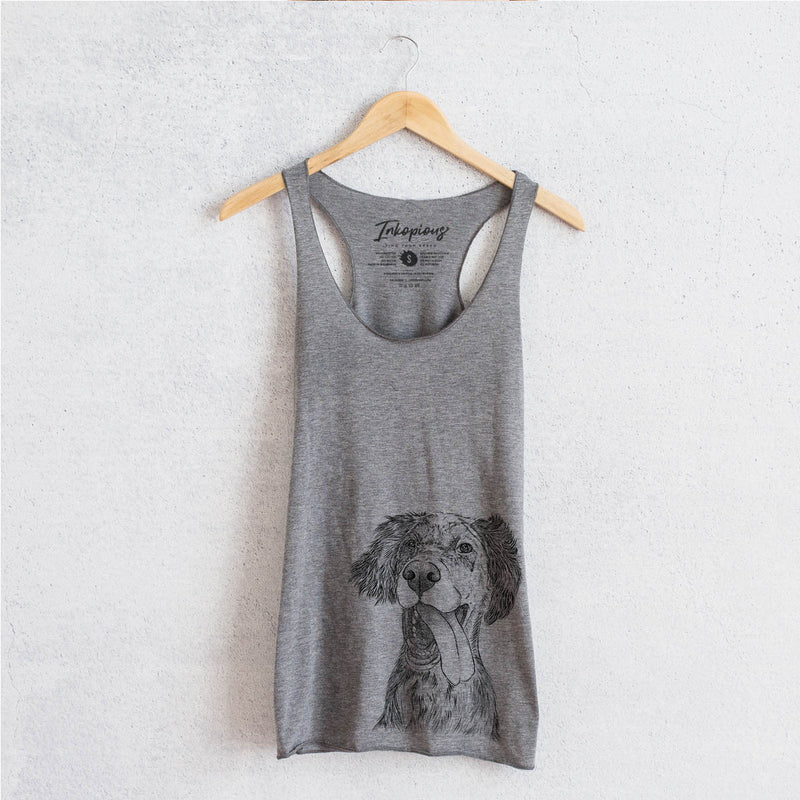 Renly the English Setter - Racerback Tank Top
