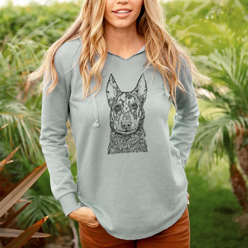 Riggs the Beauceron - Cali Wave Hooded Sweatshirt