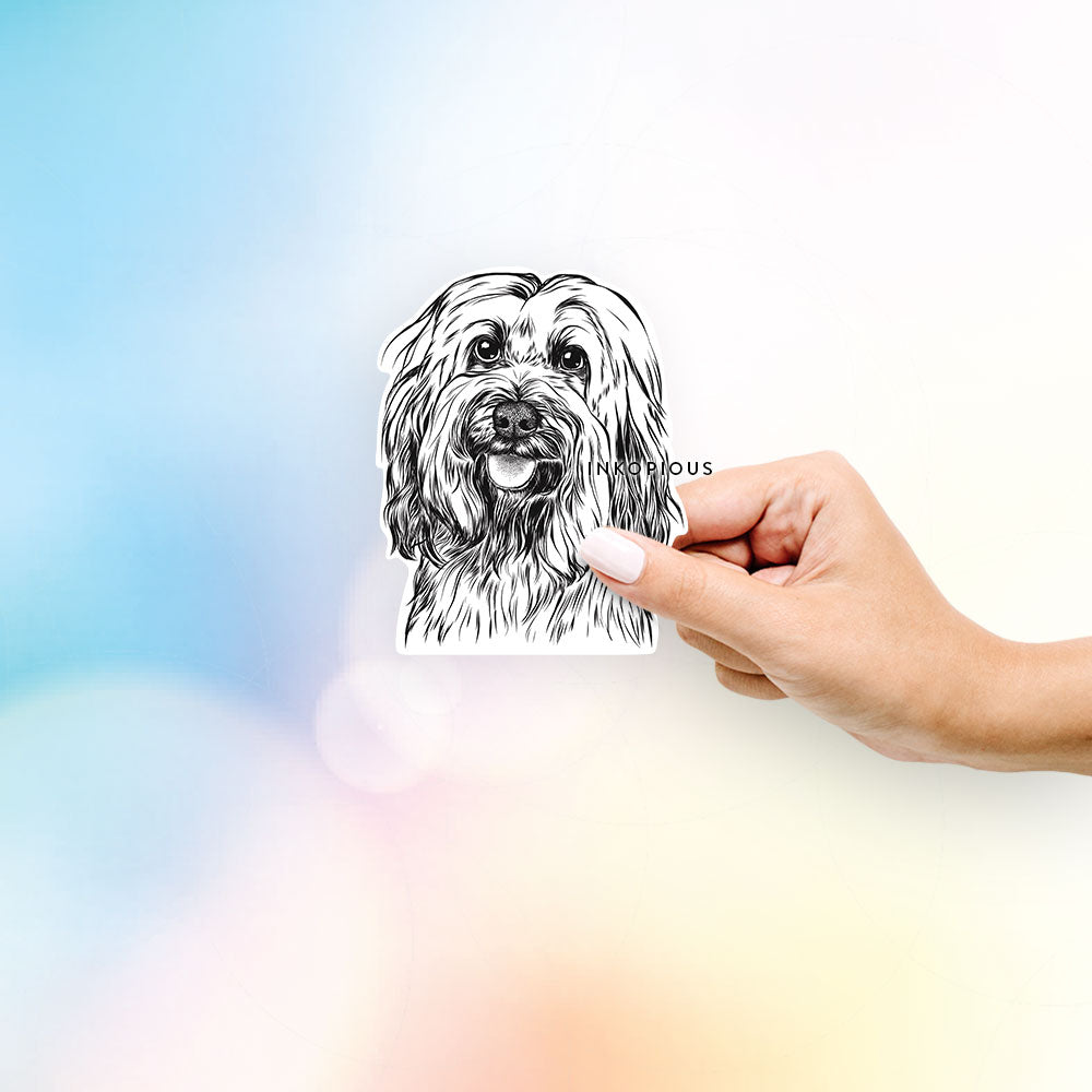 Rime the Tibetan Terrier - Decal Sticker
