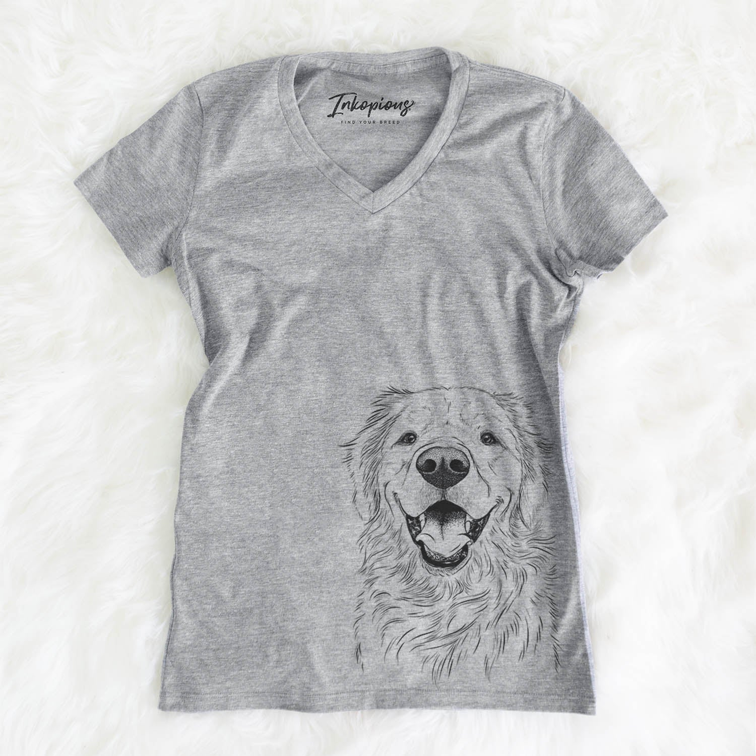 Roger the Golden Retriever - Women's Modern Fit V-neck Shirt