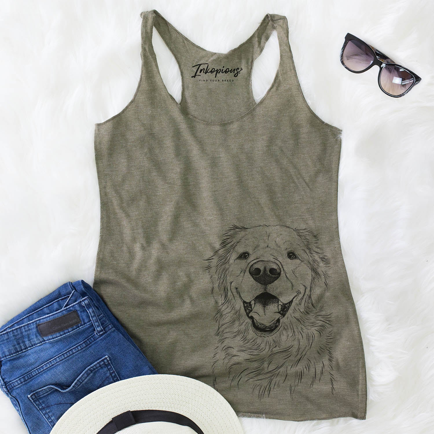 Roger the Golden Retriever - Racerback Tank Top